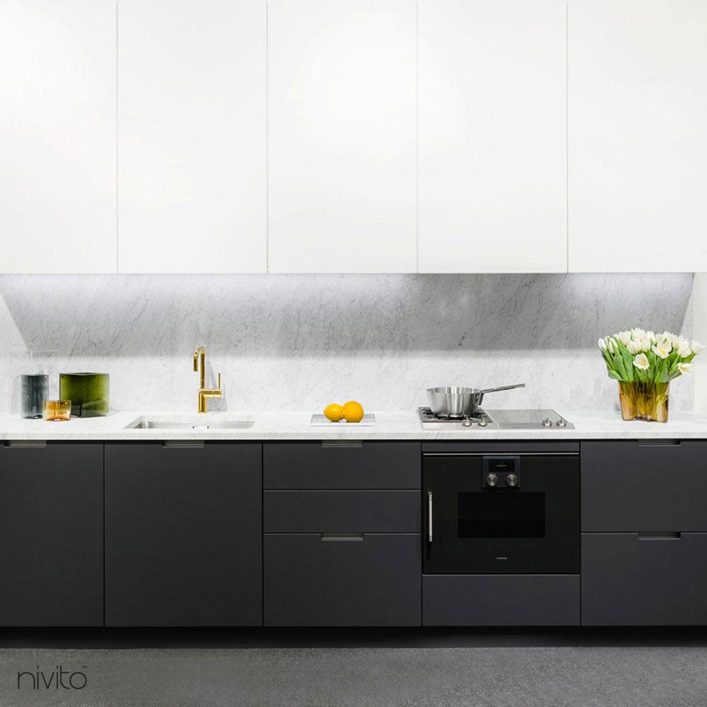 Dore or laiton mélangeur de cuisine