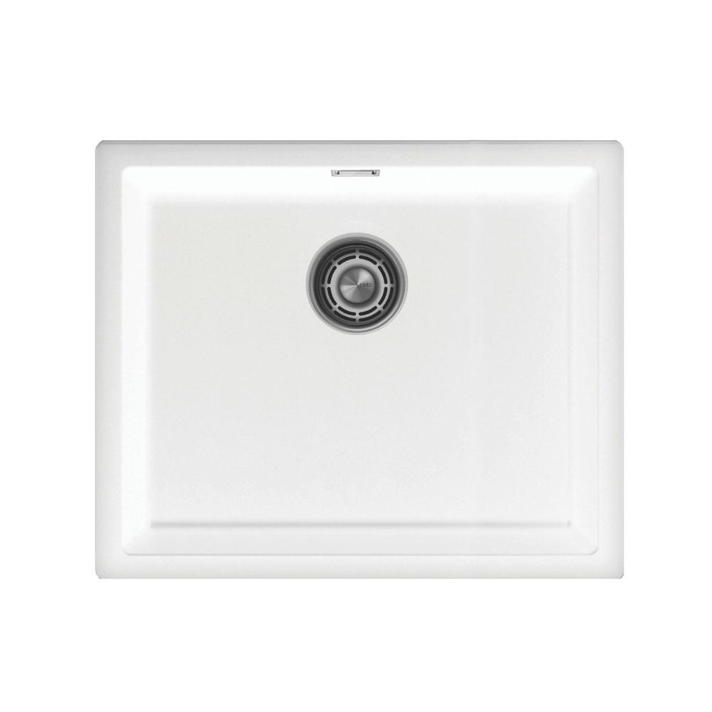 Bassin De Cuisine Blanc - Nivito CU-500-GR-WH Strainer ∕ Waste Kit Color White