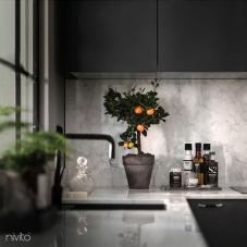 Robinet De Cuisine Noir - Nivito 10-RH-320