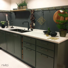Robinet De Cuisine Noir - Nivito 14-RH-320
