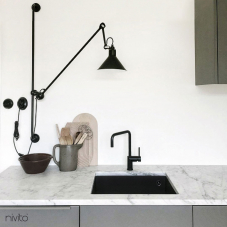Robinet De Cuisine Noir - Nivito 16-RH-320