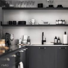 Robinet De Cuisine Noir - Nivito 21-RH-320
