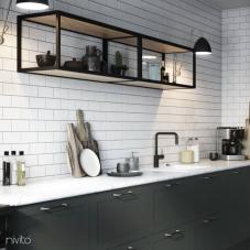 Robinet De Cuisine Noir - Nivito 22-RH-320