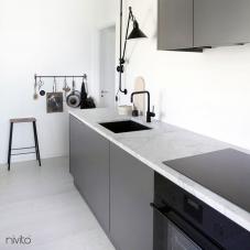 Robinet De Cuisine Noir - Nivito 5-RH-320