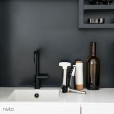 Robinet De Cuisine Noir - Nivito 7-RH-320
