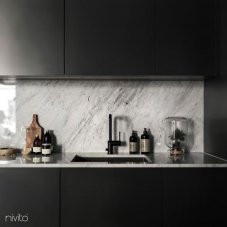 Robinet De Cuisine Noir - Nivito 8-RH-320