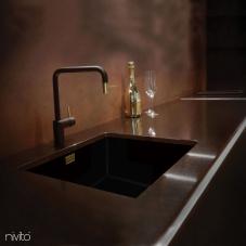 Robinet De Cuisine Dore/Or/Laiton Noir/Or/Laiton - Nivito 2-RH-340-BISTRO
