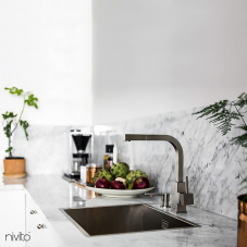 Robinet De Cuisine Acier Inoxydable - Nivito 1-SP-300